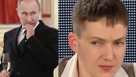 Sawczenko PUTIN TO GNIDA Znacie jego pseudonim Putin ch**