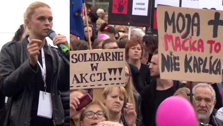 Barbara Nowacka na Czarnym Proteście Prawica i fanatycy chcąc męczyć torturować i zabijać kobiety