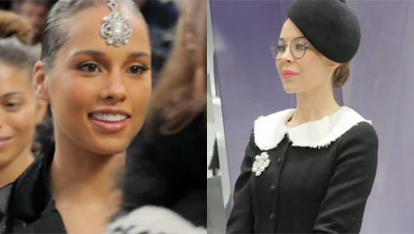 Alicia Keys i odmieniona Minogue na pokazie Chanel