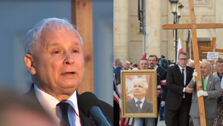 Kaczyński na miesięcznicy smoleńskiej Próbują odebrać nam prawa obywatelskie prawa katolikom i kościołowi Zwyciężymy