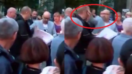 Radny PO zaatakował przechodnia pizzą Wysmarował mu nią twarz