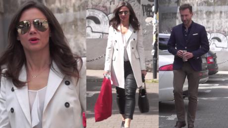Elegancki Kraśko i Rusin w lateksowych spodniach pod TVN em