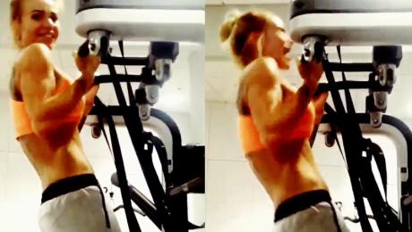 Doda ćwiczy na siłowni WIDEO