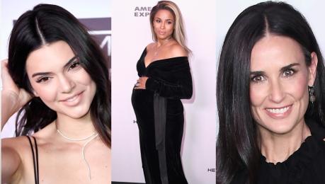 Kendall Jenner ciężarna Ciara i Demi Moore z córkami na imprezie Harper s Bazaar