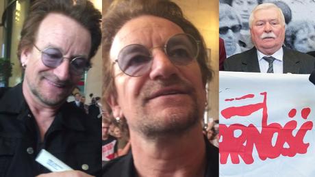 Bono pozdrawia Lecha Wałęsę To wielki człowiek Ciągle potrzebujemy solidarności na świecie