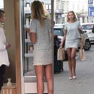 Długie nogi Sandry Kubickiej w sklepie z sokami...