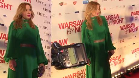 Gąsiorowska w zielonej sukni Pasuje jej ten kolor