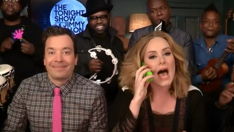 Adele Jimmy Fallon i The Roots śpiewają Hello