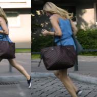 """Socha gania za taksówką na planie """"Przyjaciółek"""""""