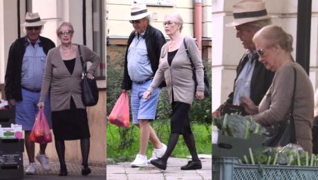 Beata Tyszkiewicz robi zakupy na bazarku Przeszła na zdrowy tryb życia