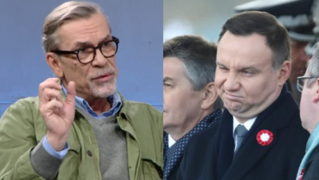 Rozczarowany Żakowski Andrzej Duda wrócił do korytarza i siedzi jako Adrian