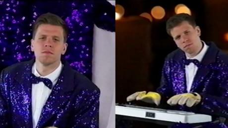 Szczęsny w cekinowym żakiecie parodiuje Conchitę Wurst