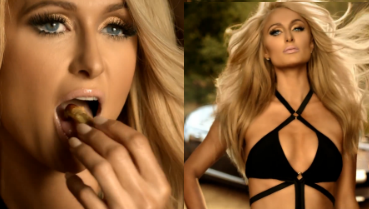 Paris Hilton W BIKINI reklamuje hamburgery