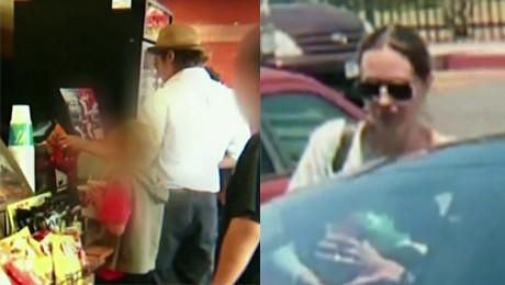 Pitt i Jolie w fast foodzie PRZYTULALI SIĘ CAŁOWALI Przyjechali bez ochrony