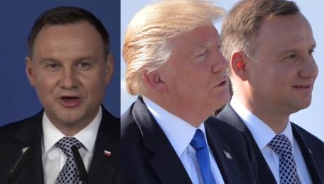 Duda zaprasza Trumpa do Polski Wystarczy ustalić termin