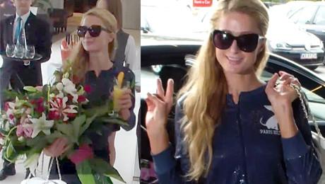 Paris Hilton pozdrawia paparazzi