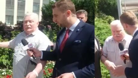 Wałęsa do dziennikarza TVP Pan jest GŁUPI Z głupkami się mówi głupio