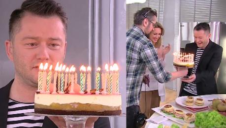 Kuźniar świętuje urodziny w Dzień Dobry TVN O cholera Tu jest 38 świeczek