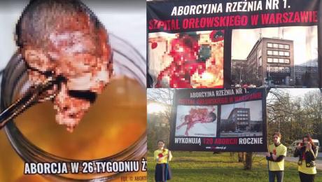 Środowiska pro life protestują przed warszawskimi szpitalami Rocznie przez aborcje ginie 1000 polskich dzieci Matki poddawane są presji by zabić