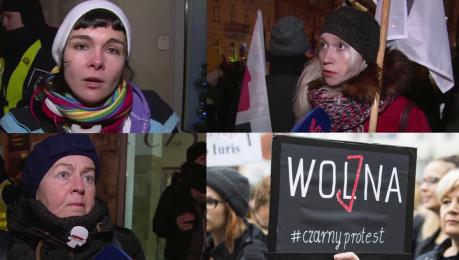 Polki znów walczą Uczestnicy Czarnego Protestu Prawa kobiet są zagrożone Cofamy się do średniowiecza