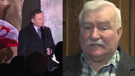 Wałęsa Wstydzę się że demokracja dała nam prezent w postaci Dudy