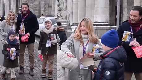 Rozenek z Majdanem i synami zbiera pieniądze na WOŚP