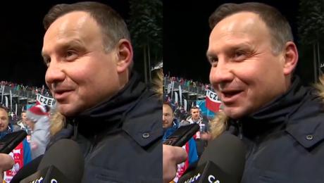 Andrzej Duda o WOŚP Wspieramy Wrzuciliśmy pieniądze do puszki