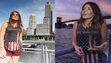 Herbuś spaceruje po Nowym Jorku z kamerami TVN u Każdy marzy żeby tu być