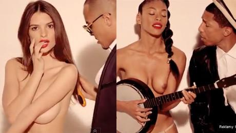 Pharrell w klipie z nagimi modelkami