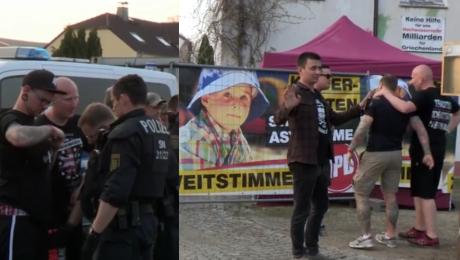 Tłumy neonazistów na festiwalu w Niemczech Tak bawili się tuż przy polskiej granicy