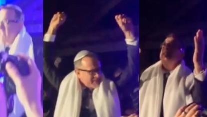 Tom Hanks w przebraniu rabbiego tańczy na weselu