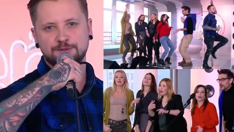 Polscy Youtuberzy śpiewają dla WOŚP w Dzień Dobry TVN