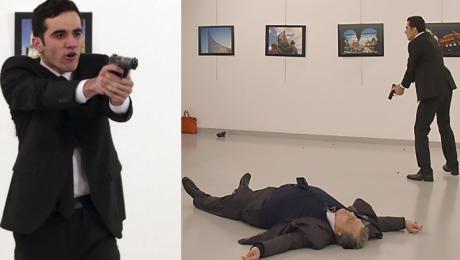 Mamy nagranie z zamachu na ambasadora Rosji w Turcji UWAGA DRASTYCZNE