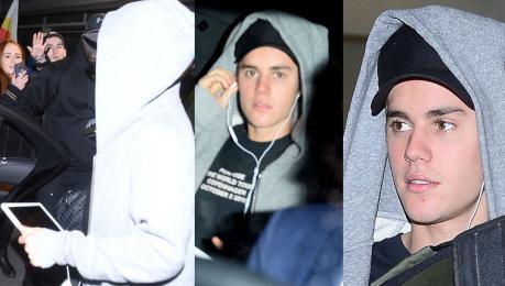Zamyślony Bieber na lotnisku w Krakowie WIDEO
