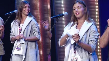 Halejcio bez makijażu na próbie do Eska Music Awards