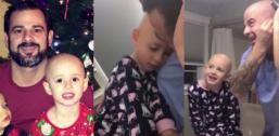 Hit sieci tata ogolił głowę na znak solidarności z córką WIDEO