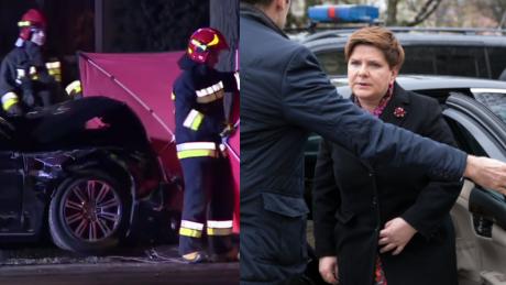 Policja o wypadku Szydło Pojazdy uprzywilejowane mogą nie stosować się do pewnych zasad ruchu drogowego