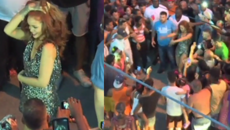 Rihanna otoczona przez fanów na Kubie Tańczy na ulicy