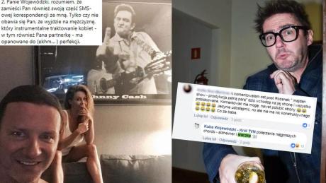 Co jest w SMS ach którymi grożą sobie Rozenek i Wojewódzki Kuba miał uprzedmiotawiać kobiety nawet Renatę