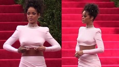 Rihanna na imprezie Anny Wintour SEKSOWNA