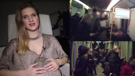 Dziennikarka udawała kobietę w ciąży Ludzie w autobusach udawali że mnie nie widzą