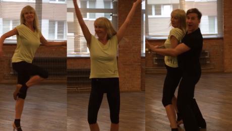 55 letnia Bojarska Ferenc i Barański trenują foxtrota do Tańca z gwiazdami