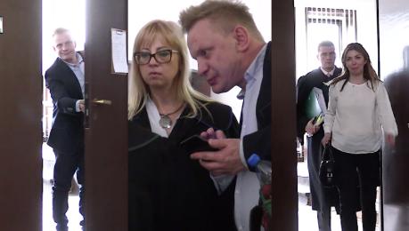 Zadowolony Waldek Kiepski na kolejnej rozprawie Tym razem nie zasłaniał twarzy