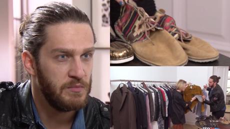 Szafa Ekskluzywnego Menela w TVN ie Menel może być elegancki Uwielbiam podarte jeansy i ramoneski