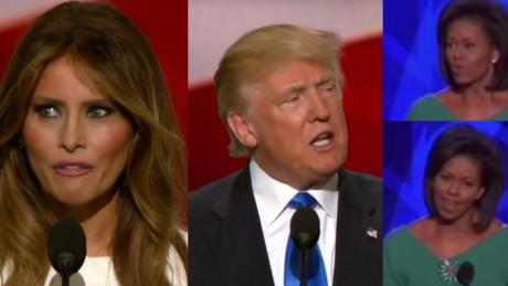 Żona Donalda Trumpa SPLAGIATOWAŁA przemówienie Michelle Obamy