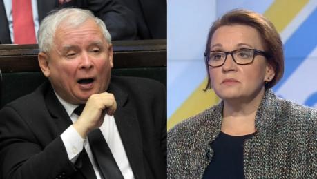 Minister Zalewska broni Kaczyńskiego Zaopiekujemy się kobietą i dzieckiem w przypadku ciąży zagrożonej