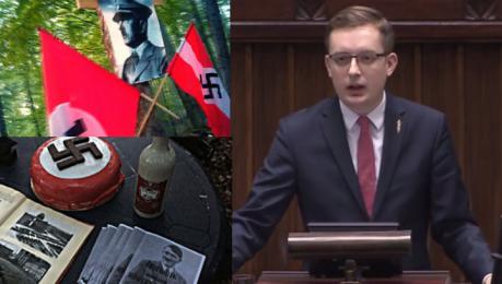 Poseł Kukiz'15 broni asystenta neonazisty… i sugeruje TVN oszustwo Wyglądało to jak ustawka Swastyki układano z wafelków