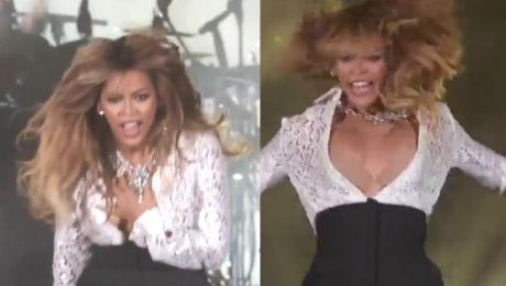 Beyonce pokazała piersi na koncercie