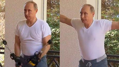 Władimir Putin pakuje na siłowni