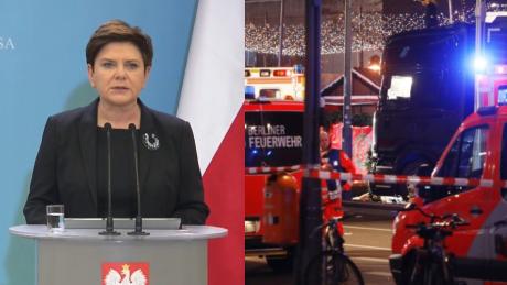 Szydło Z bólem przyjęliśmy informację że pierwszą ofiarą haniebnego aktu przemocy w Berlinie był nasz rodak